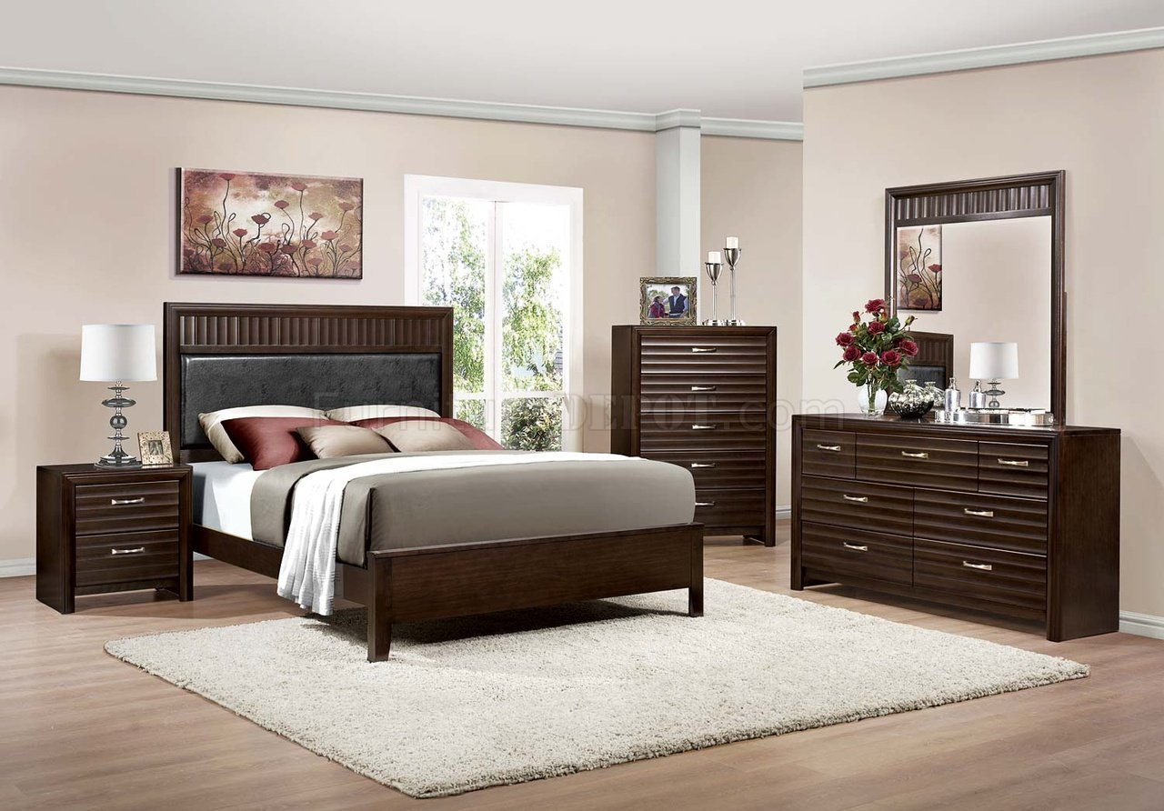 2216 hilson bedroom set by homelegance in espresso w options