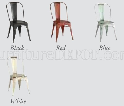 Oswego Dining 5Pc Set 100063 By Coaster W/Metal Chairs