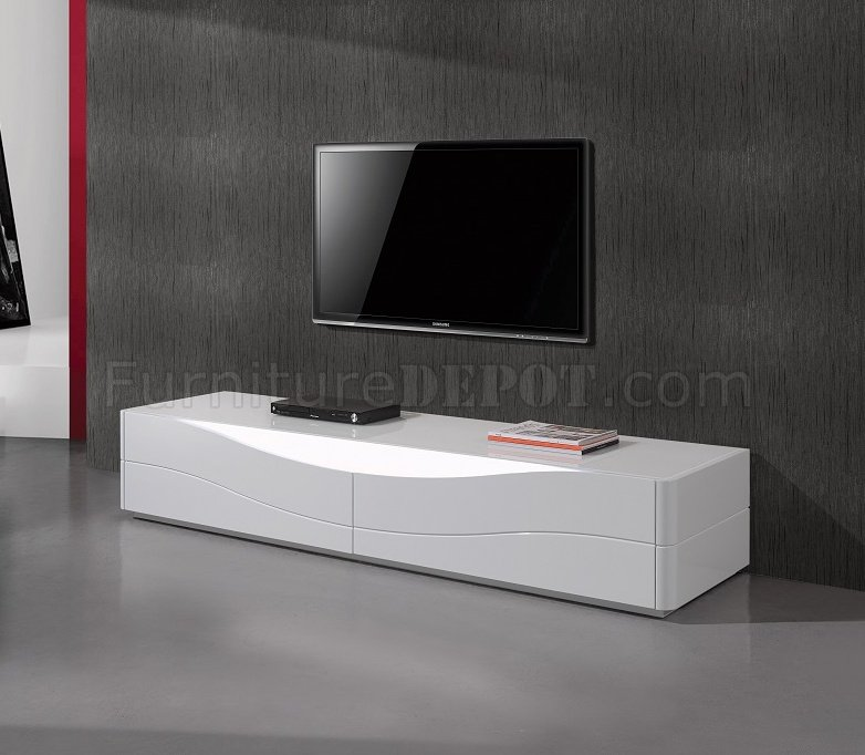 zao tv stand in white gloss by j m furniture. Black Bedroom Furniture Sets. Home Design Ideas
