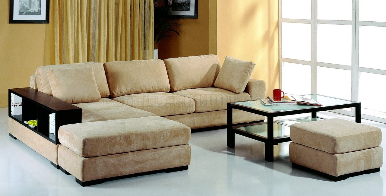 : microfiber sectional sofa with ottoman - Sectionals, Sofas & Couches