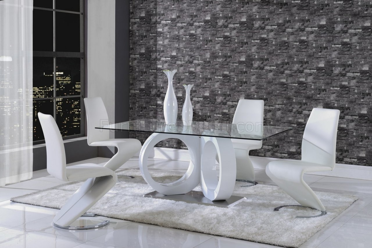 D9002DT Dining Table by Global w/Optional White Side Chairs