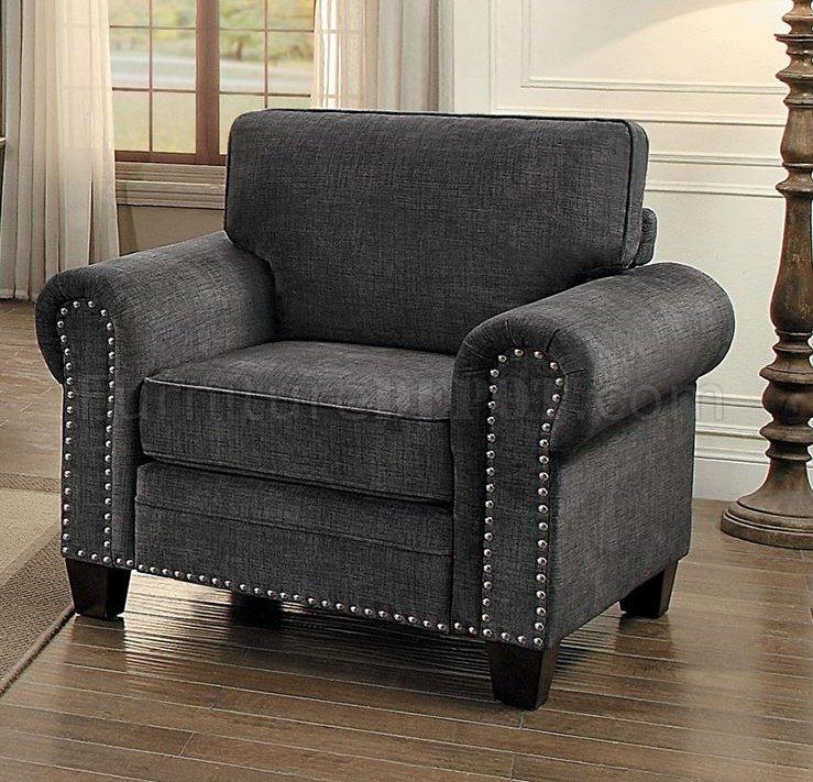 Cornelia Sofa 8216dg In Dark Grey Fabric Homelegance W