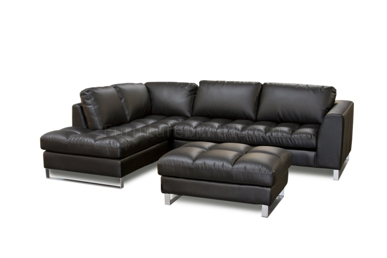 Mocca Top Grain Leather Modern Zen Sectional Sofa Woptions