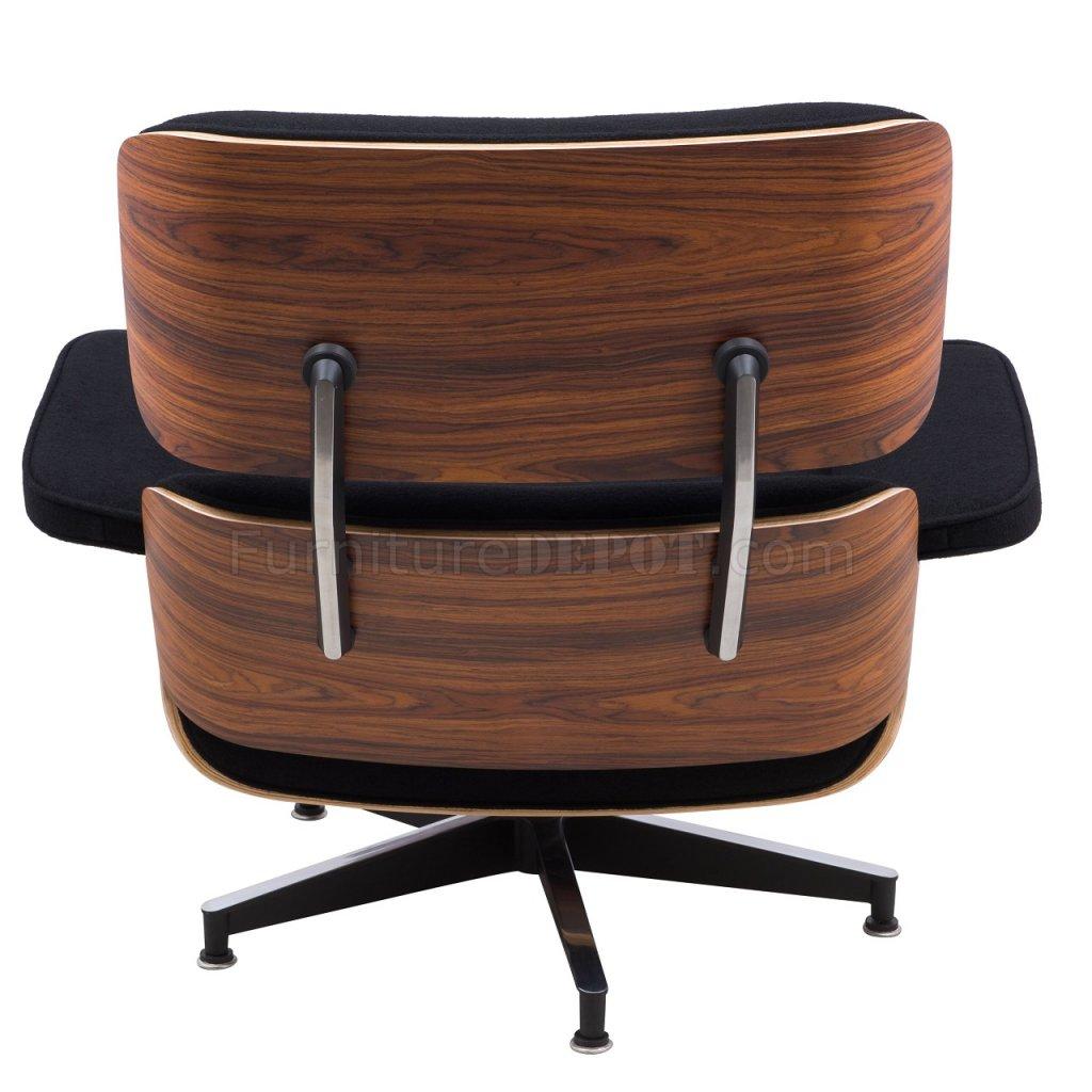 Zane Lounge Chair Amp Ottoman Set El35blw In Black By Leisuremod
