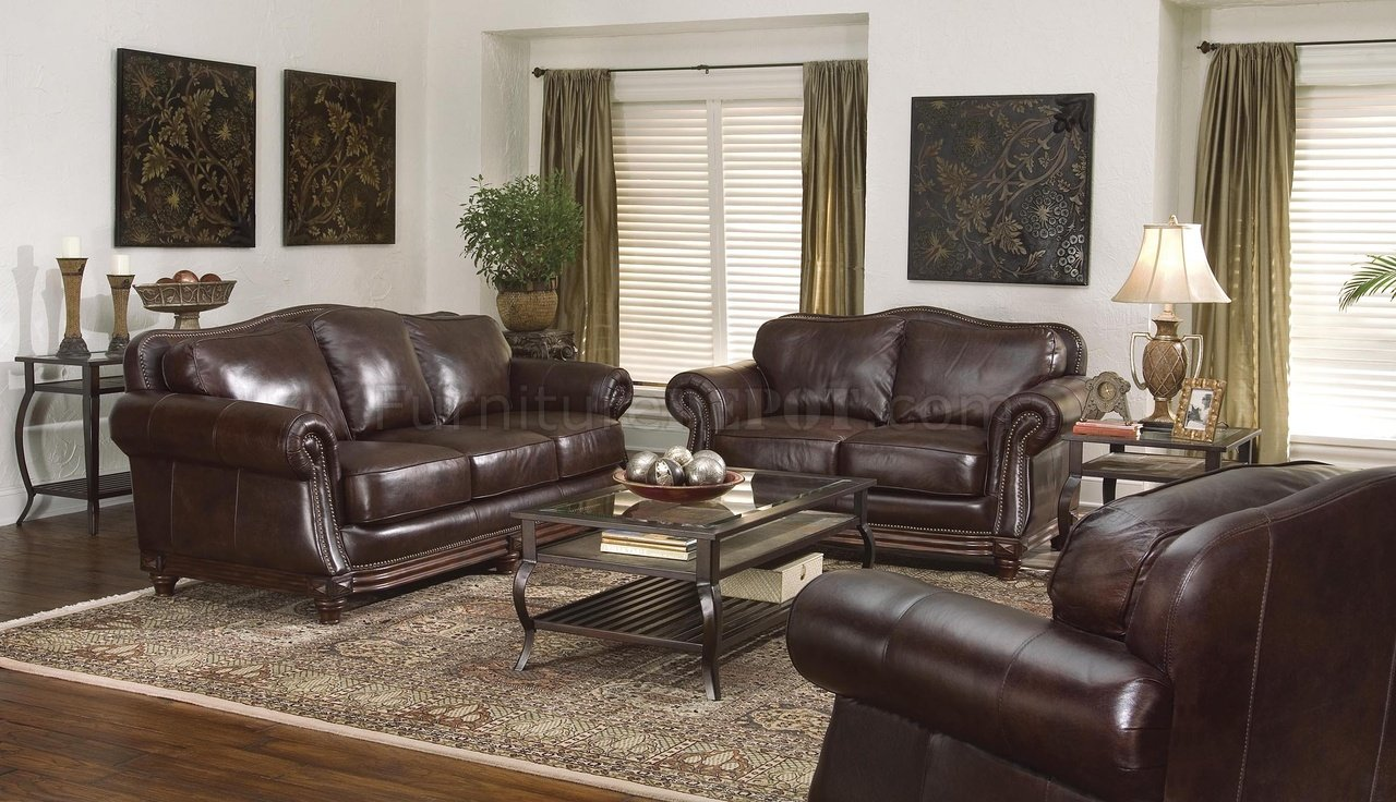 Traditional Living Room Leather