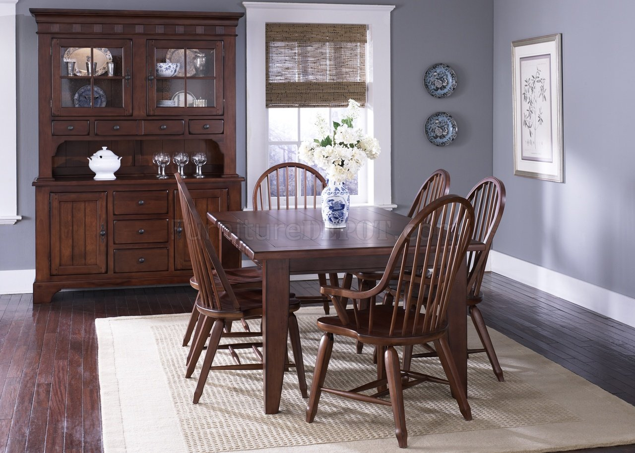 rustic cherry finish formal dining room table woptions
