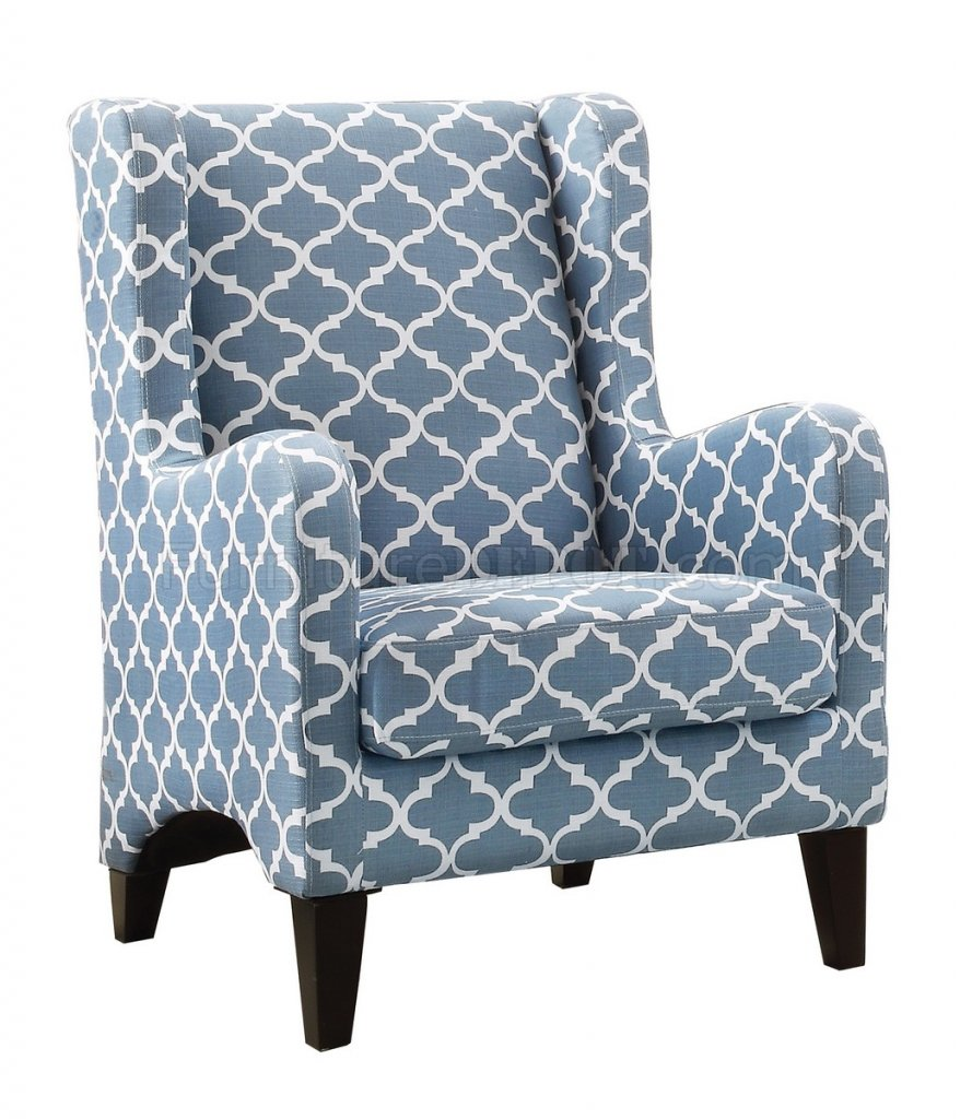 Adlai Accent Chair 1277f1s Set Of 2 In Blue By Homelegance