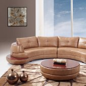 U918-Honey Sectional Sofa Bonded Leather by Global Furniture USA