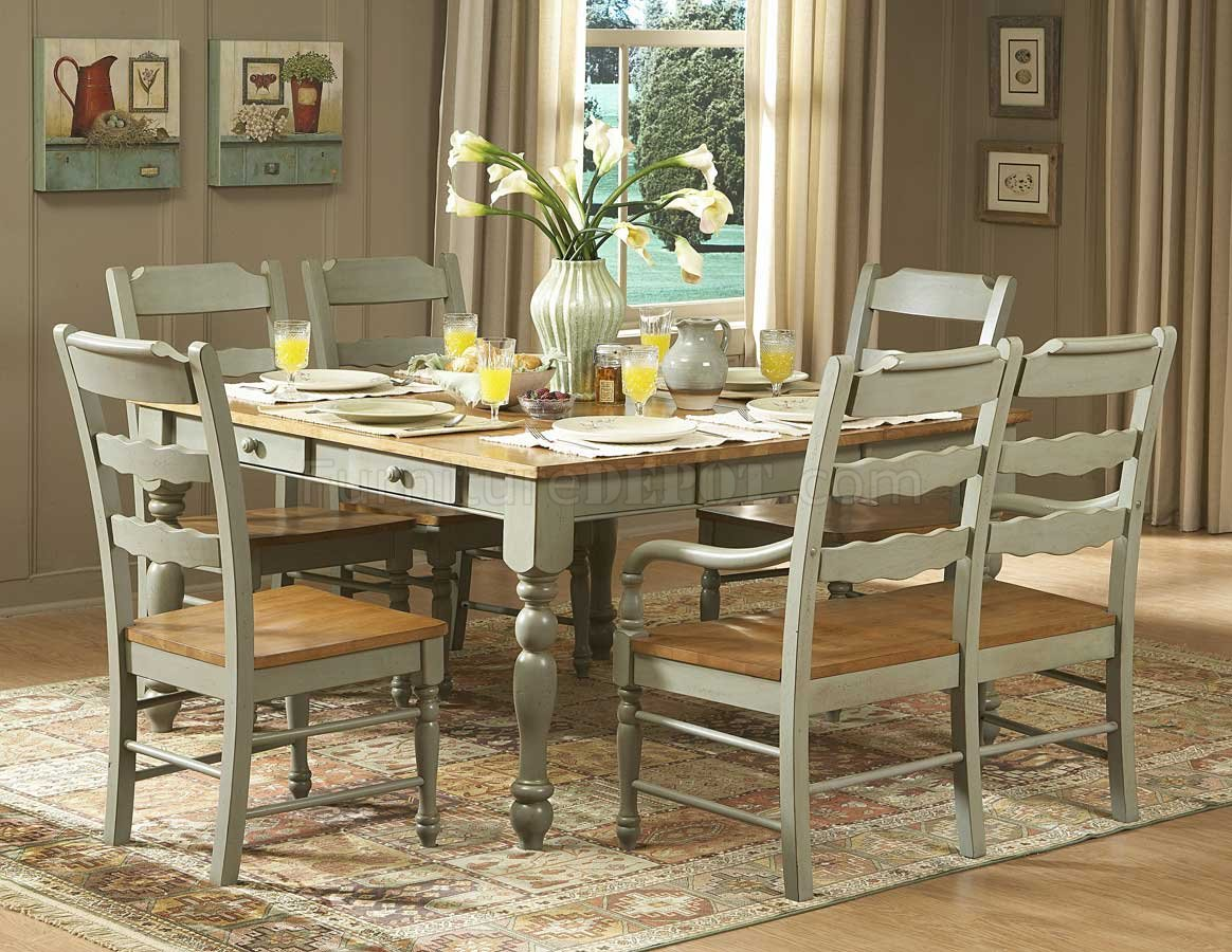 hand distressed seafoam green finish dinette table w options
