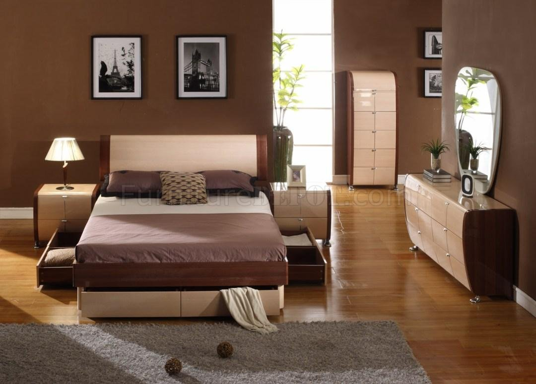 Two-Tone Bedroom Set Maya Maple Cherry