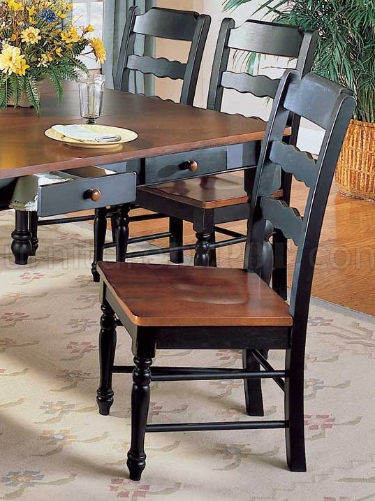 Hand Distressed Black U0026 Antique Cherry Dinette Table W/Options