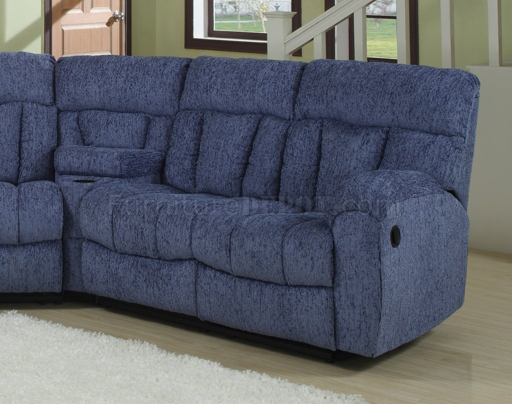 Blue or Beige Fabric Modern 5Pc Reclining Sectional Sofa : fabric reclining sectional sofa - islam-shia.org