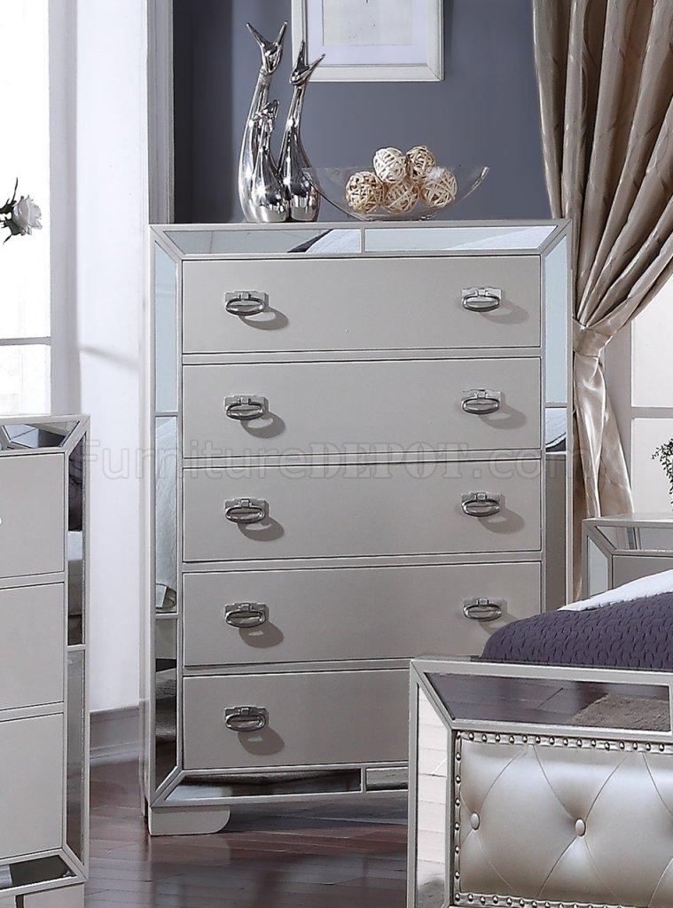 Gloria 5pc Bedroom Set In Ivory W Options