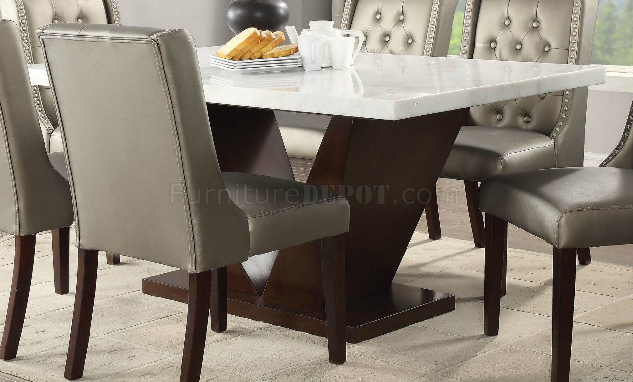 Forbes Dining Table 72120 In Walnut By Acme W Options