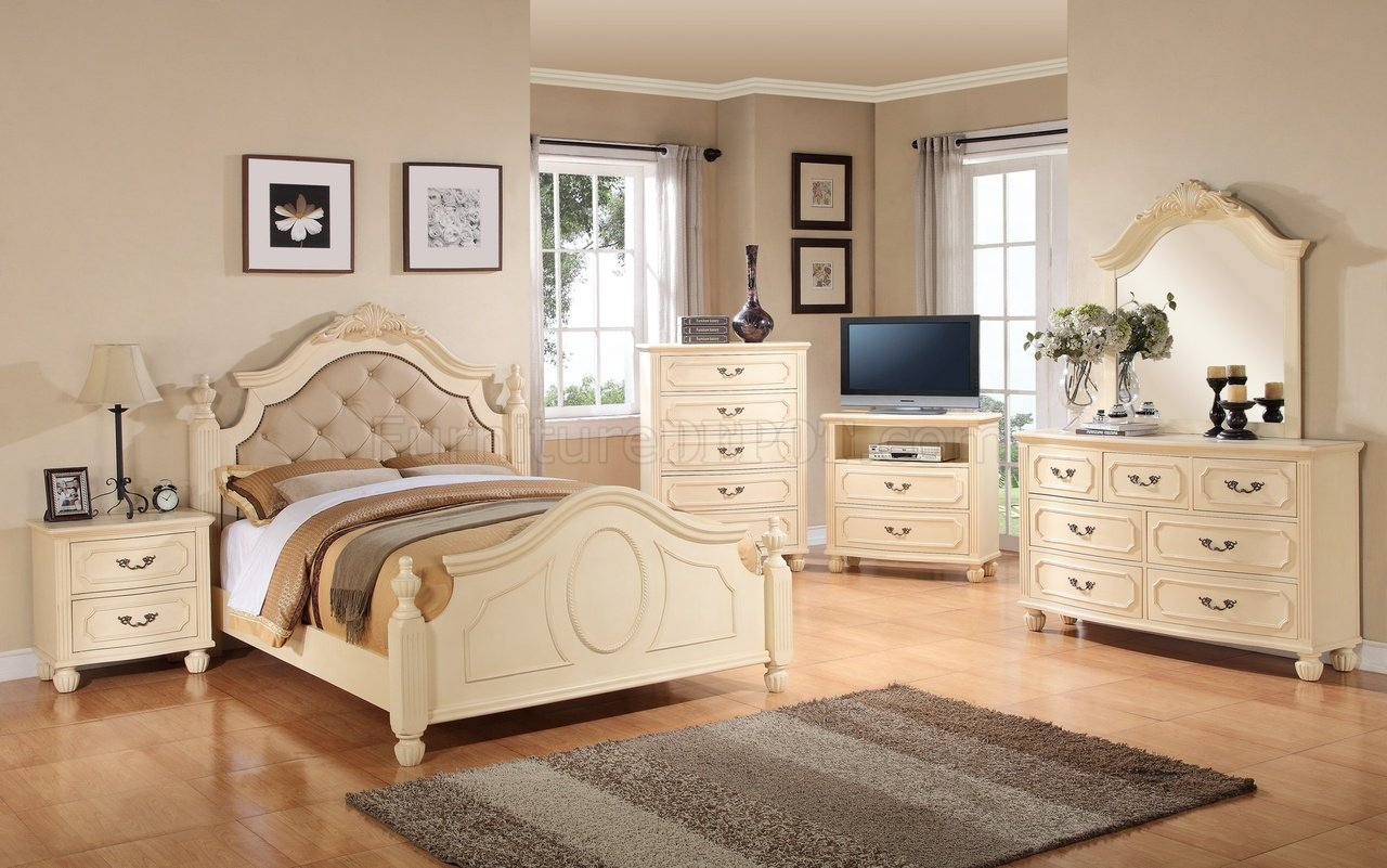 G8090a 6pc Bedroom Set In Beige By Glory Furniture
