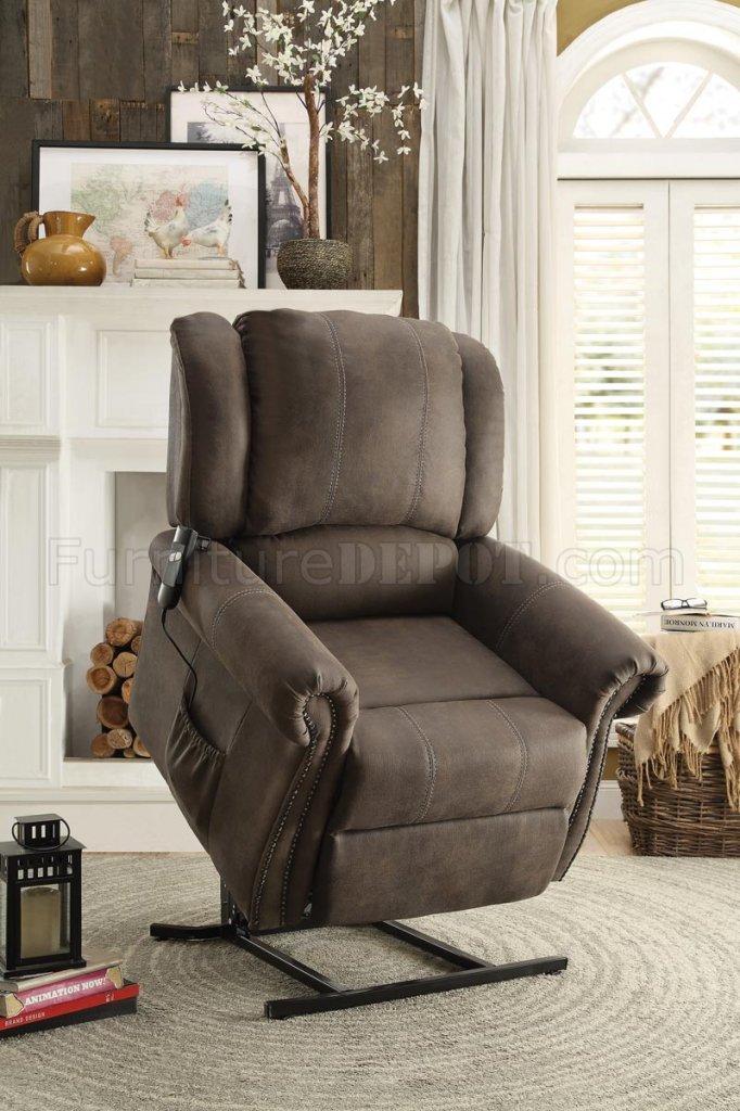 Iola Power Lift Chair 8437dbr In Dark Brown By Homelegance
