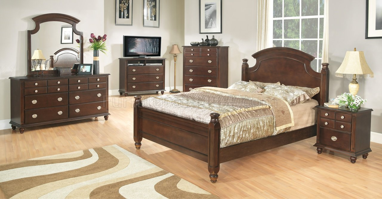 dark brown finish transitional 6pc bedroom set w options gybs g5950