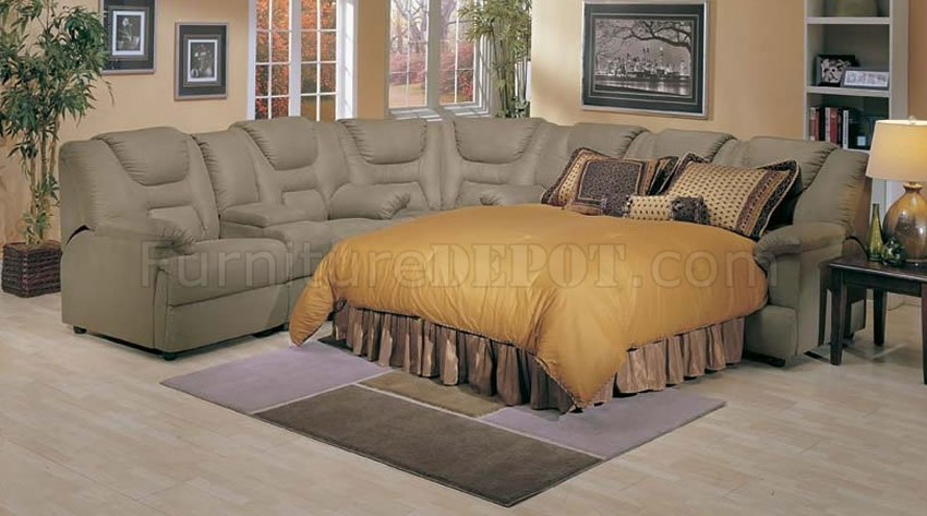 Home Theatre Style Sectional Sofa With Pull Out Bed