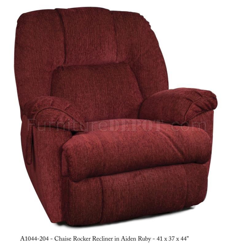Ruby fabric modern parachute pull chaise rocker recliner for Chaise x rocker