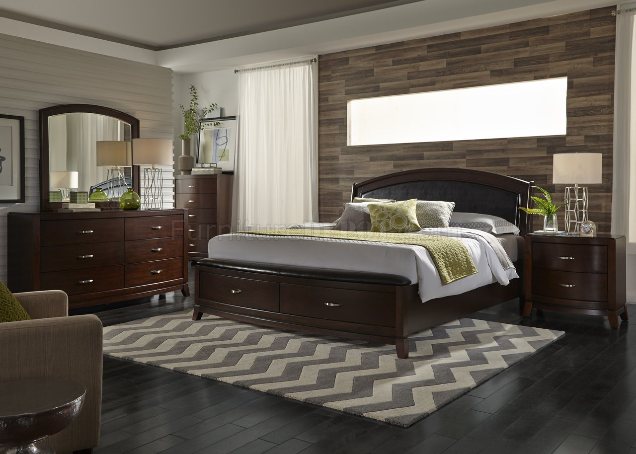 avalon bedroom collection 505 in dark brown by liberty