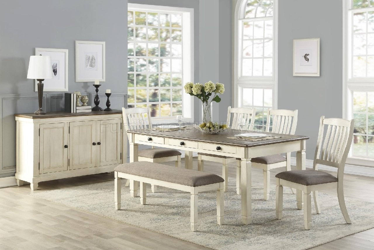 Willow Bend Dining Table 5627w 72 In Antique White