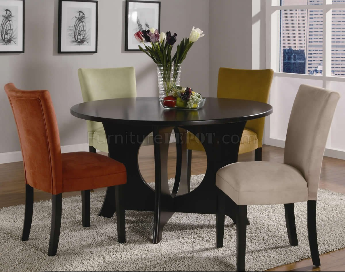 Castana Dining Set 5pc 101661 Cuccino W Optional Color Chairs