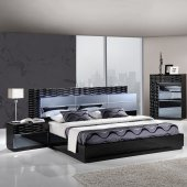 manhattan bedroom in black by global wplatform bed options - Modern Bedroom Furniture Sets