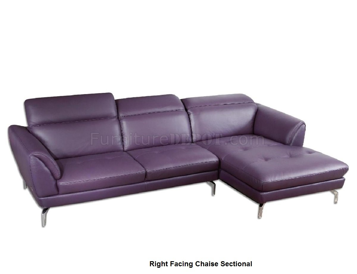 Strange Orchard Sectional Sofa Purple Leather By Beverly Hills Pdpeps Interior Chair Design Pdpepsorg