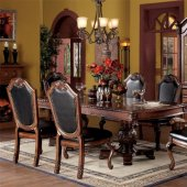 Cau De Ville Dining Table 04075 In Cherry By Acme W Options