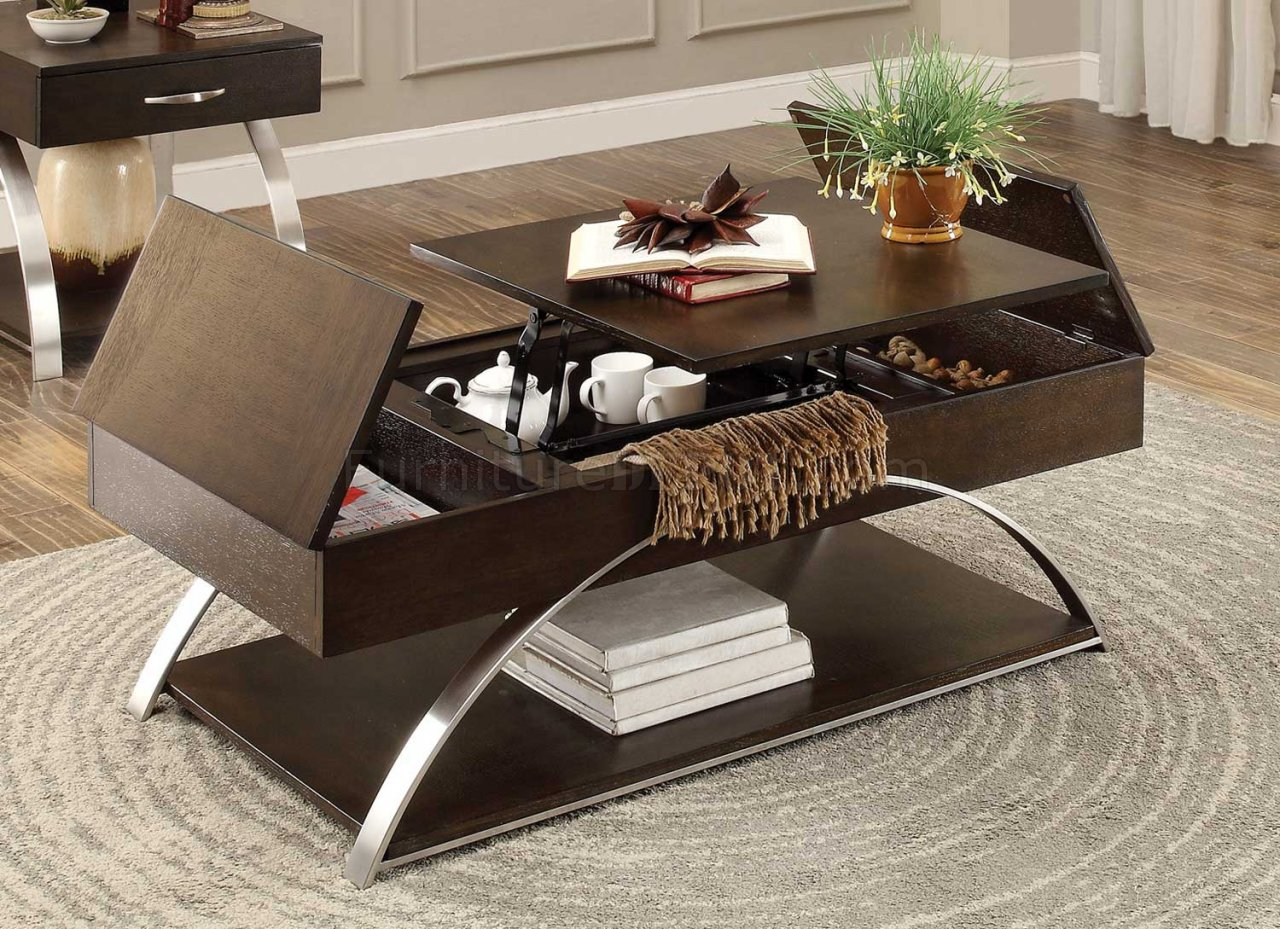 Tioga 3533 Coffee Table In Espresso By Homelegance W/Options