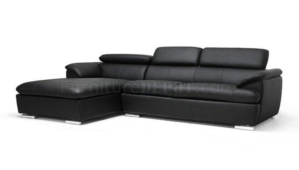 Ferdinan Sectional Sofa Black Faux Leather - Wholesale ...