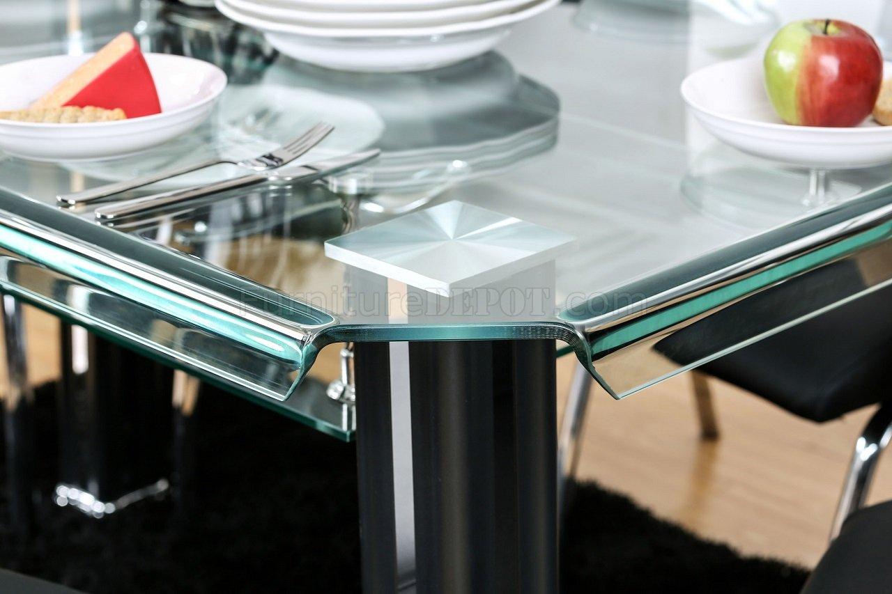 Berthold CM3364BK-T 5PC Dinette Set in Black & Chrome w/Options