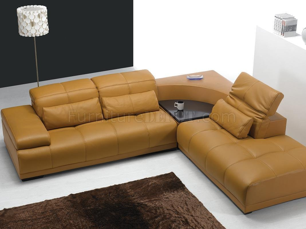 Camel Color Sectional Sofa 1069 x 802