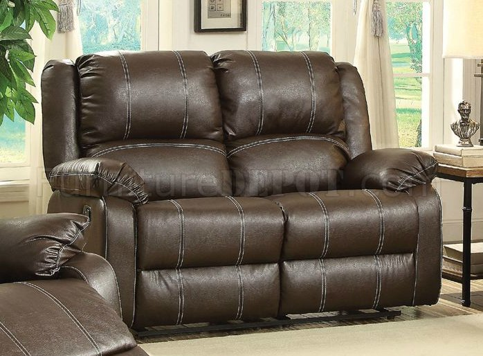 Zuriel Motion Sofa 52280 In Brown Pu By Acme W Options