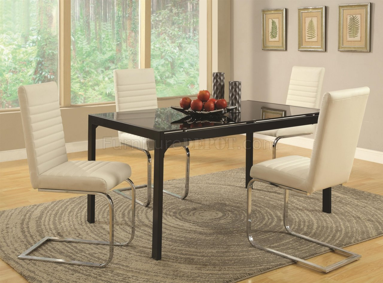 104311 Jenson 5Pc Dining Set By Coaster W/Optional White
