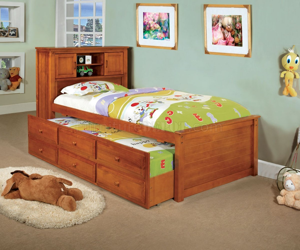 Cm7763a South Land Captain Bed In Oak W Trundle Amp Drawers