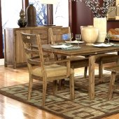 Weathered Driftwood Finish Transitional Dining Table w/Options