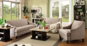 9993 Copely Sofa by Homelegance in Brown-Beige Fabric w/Options