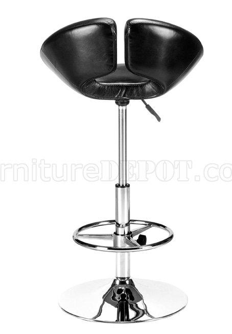 Black White Or Orange Leatherette Modern Bar Stool