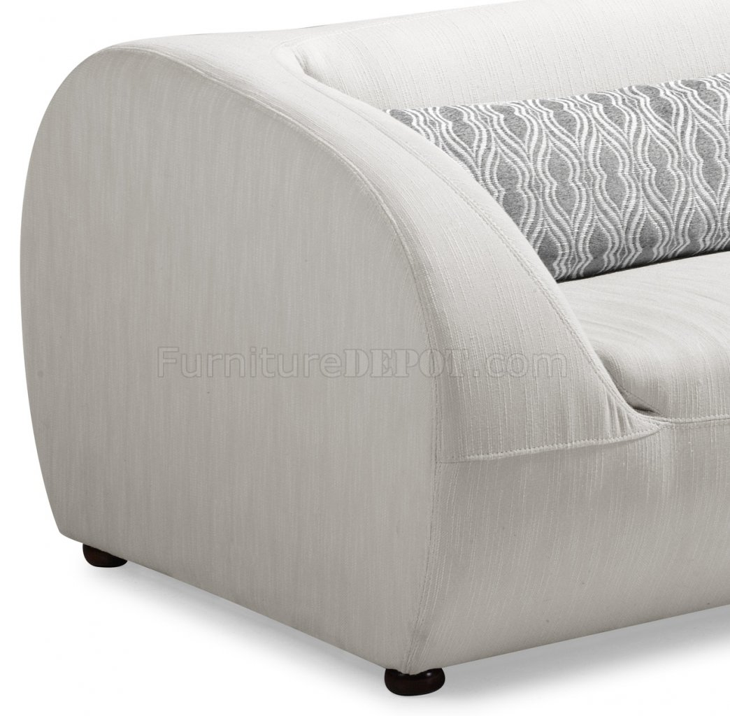 fabric chairs for living room on Beige Fabric Modern Living Room Sofa W Optional Chairs At Furniture
