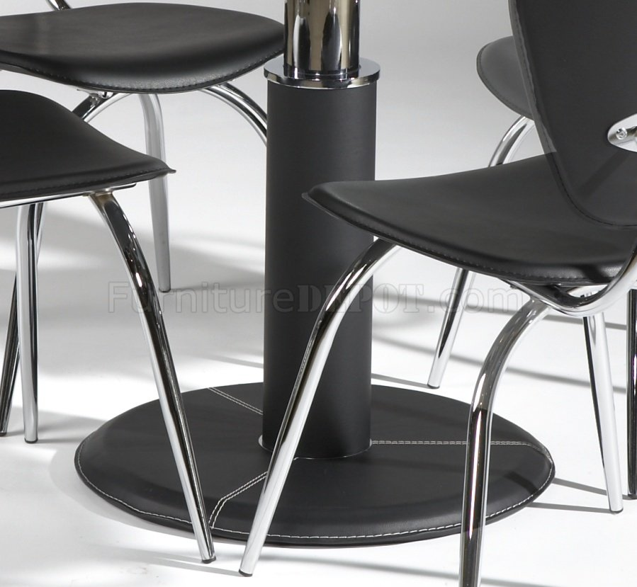 Round Clear Glass Top Modern 5Pc Dining Set wBlack Base : 726466b5fa9f363015aeef122989f814image899x829 from www.furnituredepot.com size 899 x 829 jpeg 92kB
