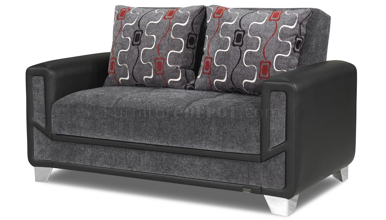 mondo sofa bed convertible in gray fabric by casamode w options. Black Bedroom Furniture Sets. Home Design Ideas