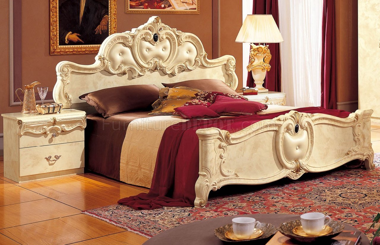 Barocco Ivory Bedroom W Optional Case Goods By Camelgroop