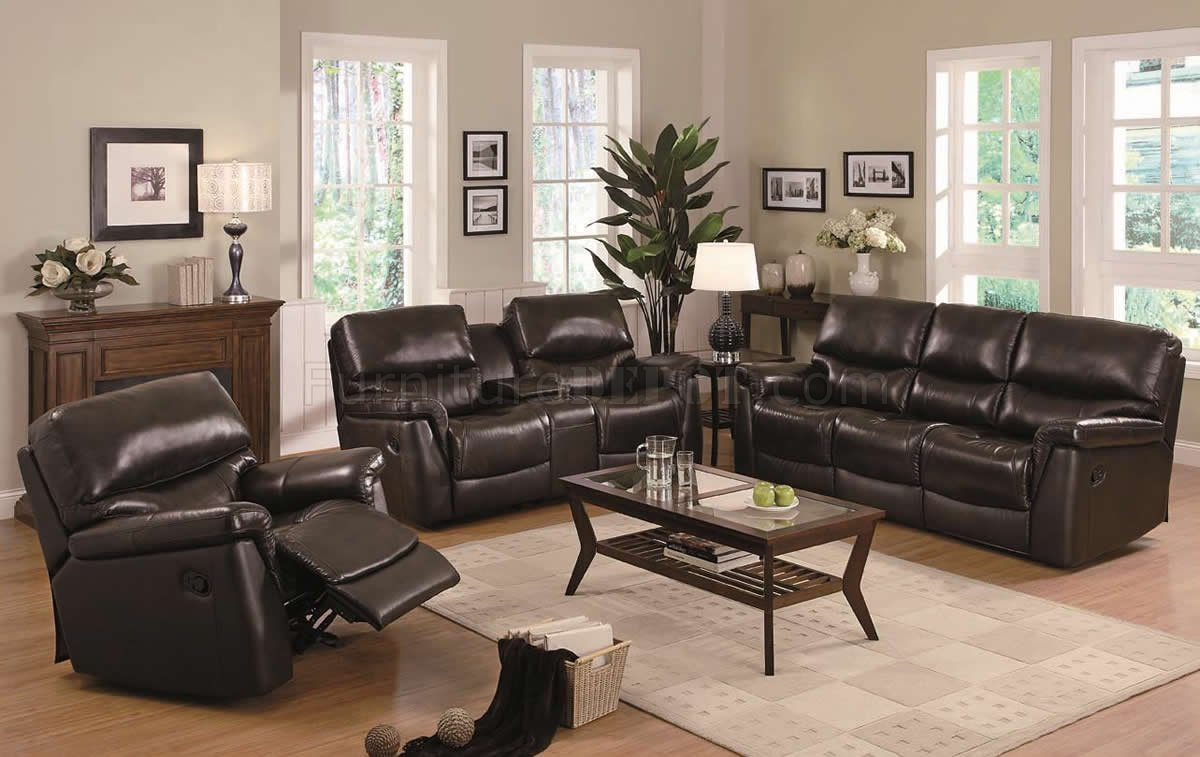 & Brown Leather Modern Reclining Sofa u0026 Loveseat Set w/Options islam-shia.org