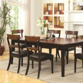 104331 McKay Dining Table in Brown & Black by Coaster w/Options