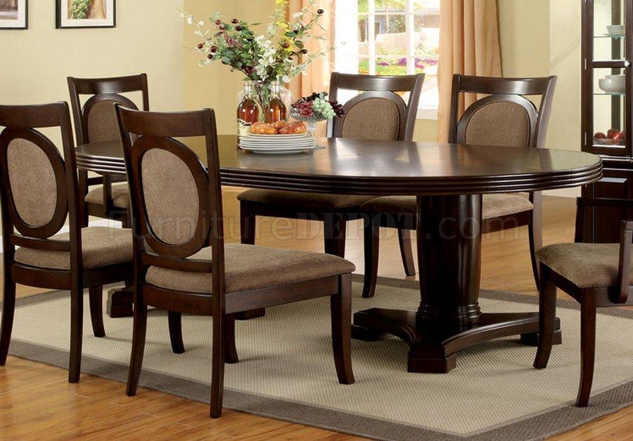 CM3418T Evelyn Dining Table In Dark Walnut W Optional Items