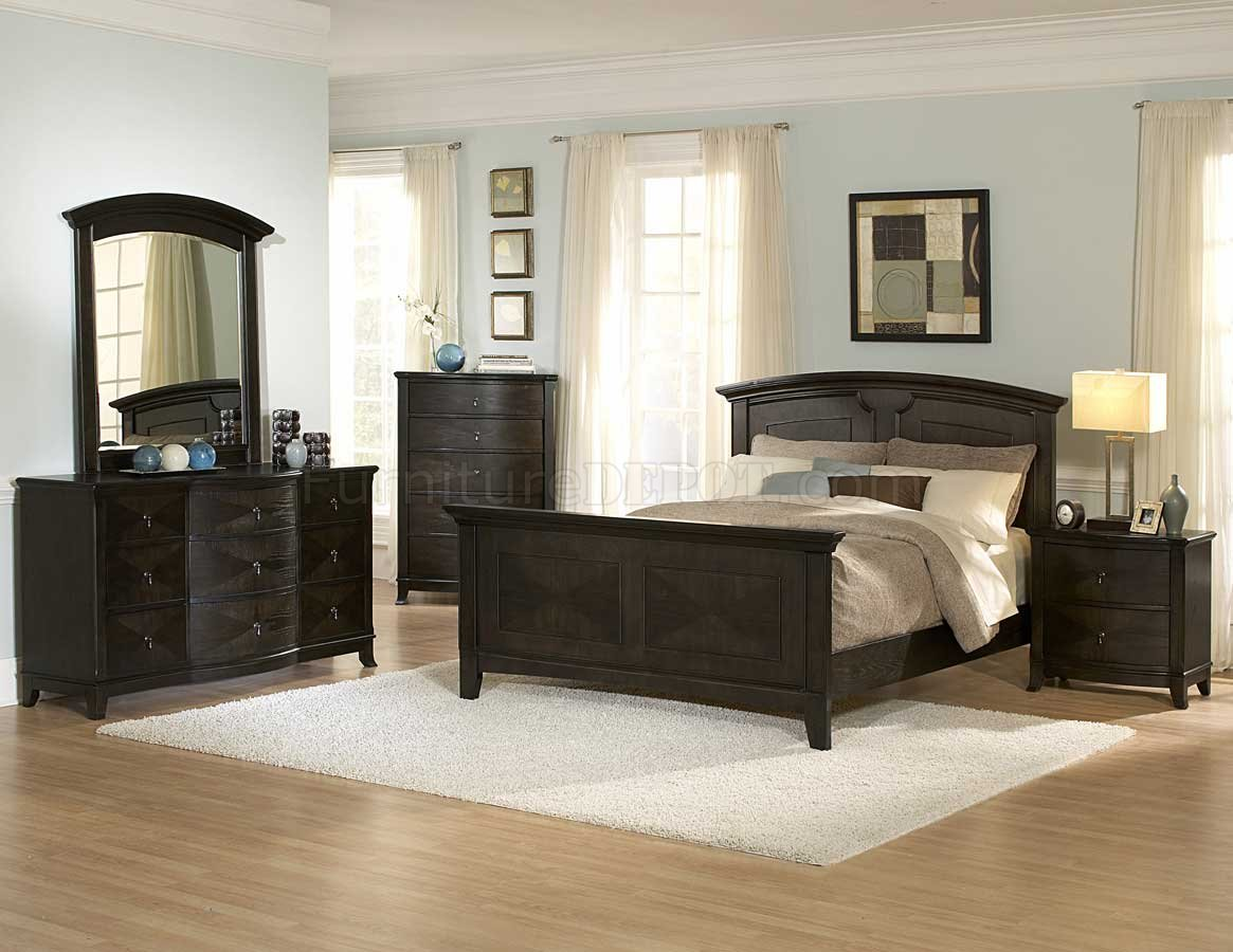 Transitional Bedroom Furniture dark oak transitional bedroom 954a