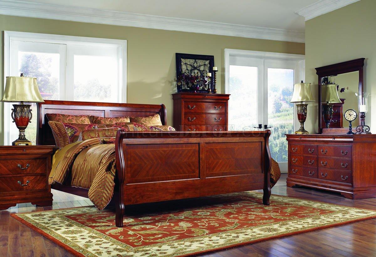 cherry bedroom furniture distressed cherry finish classic bedroom w optional casegoods