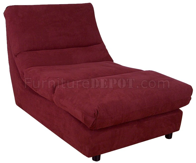 burgundy fabric modern elegant chaise lounger