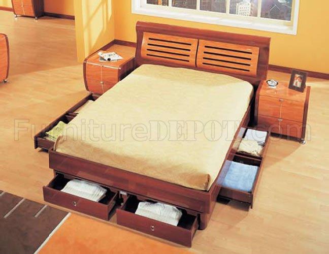 Cherry Mahogany Bedroom Furniture piece mahogany and cherry finish modern bedroom set
